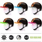 Melon Helm double orange black (Set) - Fahrradhelm Skatehelm BMX Helm Longboard