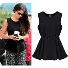 Fashion Womens Summer Vest Top Sleeveless Blouse Casual Tank Tops T-Shirt Blouse