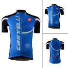 New Men's Cycling Jersey Short Sleeve Top Shirt Bicycle Clothing Blue Size S-3XL