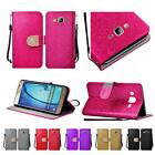 For Samsung Galaxy On5 G550 Shiny Bling Premium PU Leather Wallet Cover Case