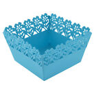 Kitchen House Plastic Square Hollow Out Multipurpose Container Storage Basket