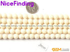 Natural Faceted White Coral Round Beads For Jewelry Making Gemstone 6mm 7mm 8mm