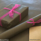 Black Kraft Natural Wrapping Paper Brown Backed  5 / 10 mtrs Vintage Style Wrap