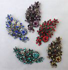 STUNNING VINTAGE SILVER SPRAY BROOCH/BROACH IN VARIOUS COLOURS.  (NB39)