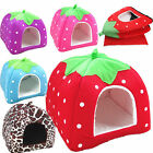Newest Cute Strawberry Pet Dog Kennel Cate House Bed Sofa Size L On Sale