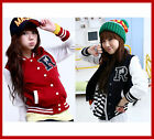 New Women&Girl R Baseball jacket Black/Red/Navy S/M  sz