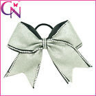 8 inch Rhinestone Bling Popular Cheerleading Cheer Bow Elastic Band
