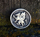 Rampant Dragon Pewter Pin Brooch -Medieval/Heraldry/Handcrafted #0604