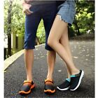 1Pair Men's Casual Slippers Summer Breathable Non-slip Mesh Flip-flops Shoes W