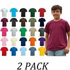 2-PACK-Fruit Of The Loom tshirts Tops-Kids Original T Shirt