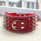 "New 3"" Leather 4 Rows Spiked Studded Large Pet Dog Collars Pitbull Mastiff Boxer"