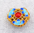 15x17x8mm cloisonne Clover petals Tibet amulets Jewelry accessories gifts #4