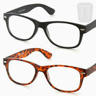 New Wayfarer Rimmed READING GLASSES - BLACK/Tortoiseshell +1.0+1.5+2+2.50+3.00