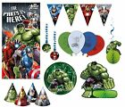 Marvel Avengers Assemble MULTI HEROES - Birthday Partyware & Decorations