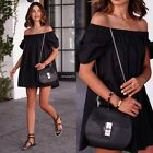 Sexy Women Summer Casual Off-Shoulder Evening Party Beach Dress Mini Short Dress