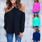 Womens Long Sleeve Chiffon T-shirt Blouse Loose Casual Floral Tops Fashion