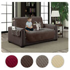 Micro-Suede Slipcover Pockets Pet Dog Couch Furniture Protector Cover Love Seat