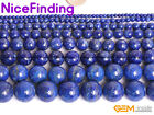 Natural Lapis Lazuli Gemstone Round Beads For Jewelry Making Loose Beads 15''DIY