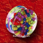 »»» BUBBLE BALLS Acryl SADDLE PLUG OHRPIERCING 5-25mm 1371
