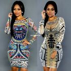 Sexy Women Bandage Bodycon Long Sleeve Evening Party Cocktail Pencil Dress EN24H