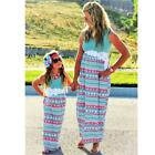 Mother And Daughter Matching Dress Casual Long Maxi Dress Beach Sundress Outfits