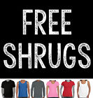 Funny T-Shirts Free Shrugs Play on hugs Aussie store  Men's Ladies Aussie cool