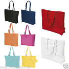 Ladies Bright Canvas Beach Shoulder Bag Summer Holiday Tote - Attached Purse