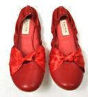 DO NI Ballet Flat Shoes 100% Animal Free Vegan Friendly Shoes Red 6 9 NEW