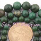 6-10mm Smooth Round Africa Green Jade Gemstone For DIY Jewelry Making Beads 15""