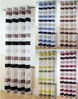STIRLING MODERN STRIPED VOILE CURTAIN PANELS READY MADE RING TOP SHEER PANEL