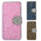 Bling Diamonds Rhinestone Card Leather Flip Wallet Case Cover for iPhone 6s Plus