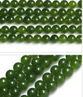 "15"" Strand of AA+ Rated Genuine (Natural) Nephrite Jade Beads 6 8 10 12 14mm"