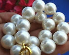 8mm 10mm 12mm 14mm 16mm 18mm 20mm south sea White Shell Pearl Necklace 18''