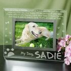 Personalized Dog Memorial Picture Frame Engraved Dog in Heaven Glass Photo Frame