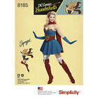 SEWING PATTERN SIMPLICITY Women's Retro Supergirl Costume 6 to 22 8185