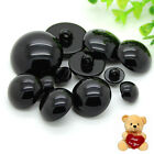 100pcs Buttons Round Mushroom Domed Sewing Shank Black DIY Animal Eyes Toy