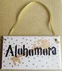 HANDMADE PLAQUE SIGN HANDPAINTED HARRY POTTER ALOHOMORA SPELL GOLD KEY HOME GIFT