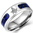 8MM Size 5-16 Stainless Steel Masonic Ring Titanium Wedding Band Cocktail Party