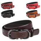 Womens / Ladies Quality Leather Belt with Feature Buckle - Tan, Black, Brown