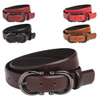 Ladies Premium Leather High Quality Belt with Feature Buckle - Sizes 10 - 18