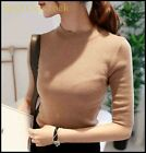 Hot Sale Ladies Womens Student Slim Sweet gentlewoman Sweater Top Shirt OL Sizes