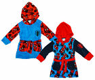 Boys Ultimate Spiderman Spidey Spider Print Hooded Dressing Gown 3 to 8 Years