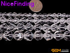 6,8,10,12mm Faceted Natural White Clear Quartz Crystal Beads For Jewelry Making