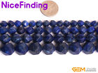 6,8,10,12mm Faceted Lapiz Lazuli Loose Stone Beads For Jewelry Making Gemstone