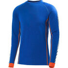 Helly Hansen Warm Ice Crew Mens Base Layer Top - Classic Blue All Sizes
