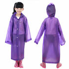 Unisex Kids Hooded Jacket Rain Poncho Raincoat Cover Long Rainwear for Age 6~12