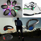 LED Luminous Shoe Clip Light Night Bike Safety Warning Cycling Running Sports
