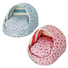 Pet Puppy Dog Cat Soft Warm Winter Half Open Bed Nest Mat Pad 2 Color