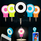 New 3.5mm Jack Selfie LED Camera Ring Flash Light Lamp for IOS Android Phone