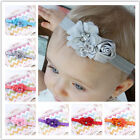 Baby Lace Elastic Headband Chiffon Flower Headwear Infant Kids Hair Accessories